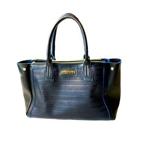 Kenneth Cole Reaction Blue Accent Tote Purse